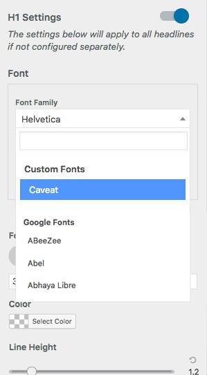 Custom Fonts Integration - Page Builder Framework
