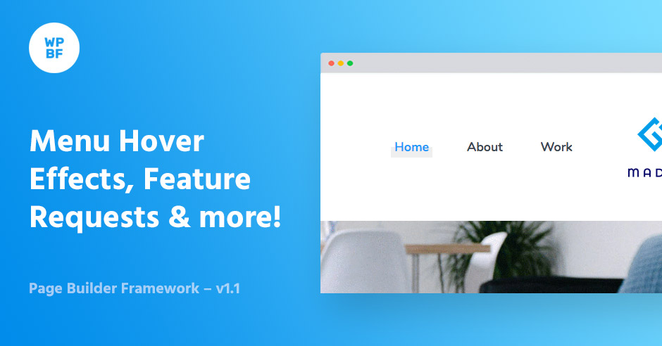 Menu Hover Effects, Feature Requests & more! - Page Builder